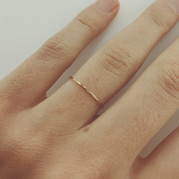Delicate Textured Gold Ring
