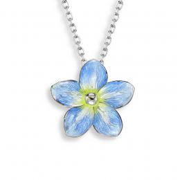 Sterling Silver + Enamel Forget-Me-Not Necklace