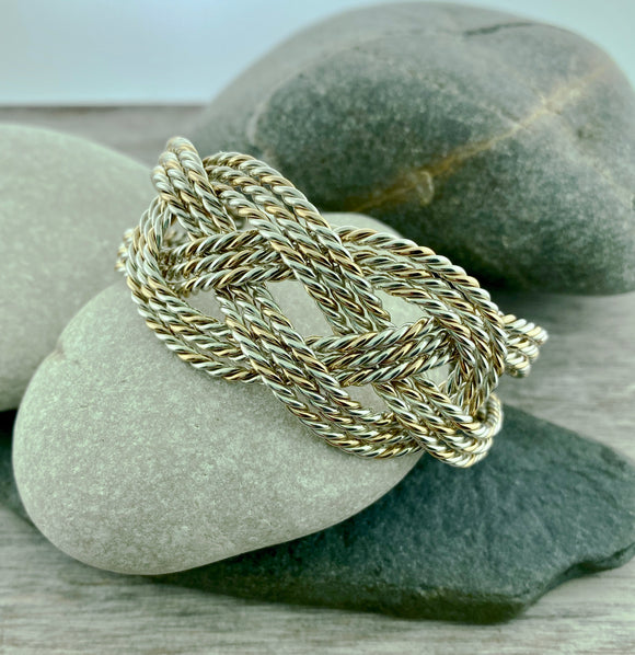 Hand Braided Carrick Bend Cuff Bracelet