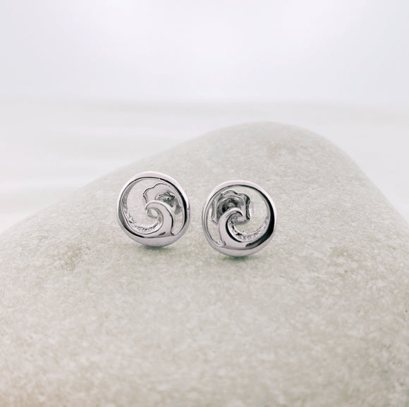 Sterling Wave Stud Earrings