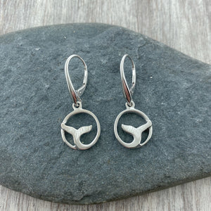 Whale Tail Drop Earrings