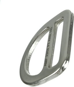 Fusion Climb Kendo Carbon Steel Drop Forged Single Slotted D-Ring Silver MBS 23KN