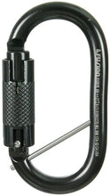Load image into Gallery viewer, Fusion Climb OvattiSteel Auto-Lock Oval-Shaped Carabiner Black
