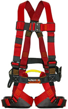 Load image into Gallery viewer, Fusion Climb Streak Racer Full Body Padded Zipline H Style Harness, Blue/Red/Black