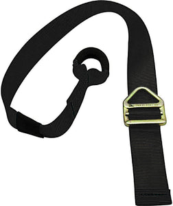 "Fusion Climb Lanyard with Eye Loop Delta Ring 1.75"" Wide Adjustable to 48"" Black"