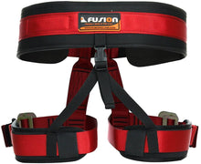 Load image into Gallery viewer, Fusion Climb Apollo II Military Tactical Padded Half Body Adjustable Zipline Harness 23kN L/XL Red
