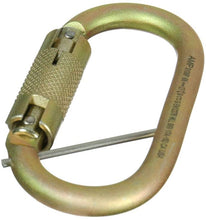 Load image into Gallery viewer, Fusion Climb Ovatti Steel Auto Lock Oval  Carabiner with Captive Eye Pin Gold