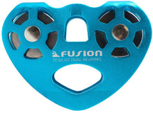 Load image into Gallery viewer, Fusion Climb Tesa Speed Aluminum Zip Line Blue Trolley Pulley