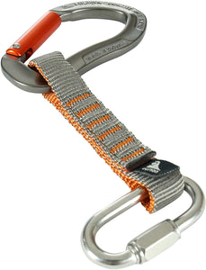 "Fusion Climb 11cm Quickdraw with 1/4"" Stainless Steel Quick Link/Techno Zoom Orange Straight Gate Carabiner"