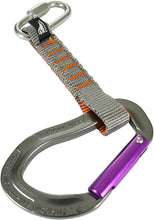 "Load image into Gallery viewer, Fusion Climb 11cm Quickdraw with 1/4"" Stainless Steel Quick Link/Techno Zoom Purple Straight Gate Carabiner"
