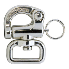 Load image into Gallery viewer, Fusion Climb Quick Release Swivel Snap Shackle Pull-Lock Mechanism Silver 800 lbs WLL