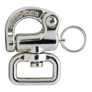 Fusion Climb Quick Release Swivel Snap Shackle Pull-Lock Mechanism Silver 800 lbs WLL