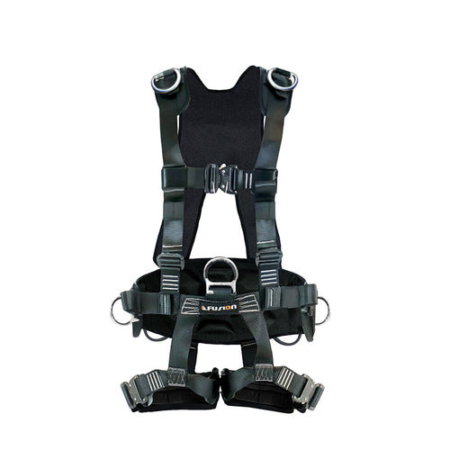 TAC-SCAPE -Heavy Duty FULL BODY HARNESS (Silver D-ring)