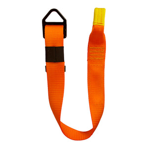 ADJUSTABLE SINGLE LEG LANYARD W/LOOP & ADJUSTABLE DELTA RING
