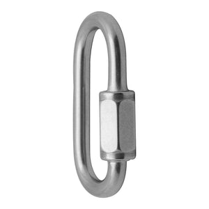 "FUSE OVAL QUICK LINKS - 1/4"" - STAINLESS"