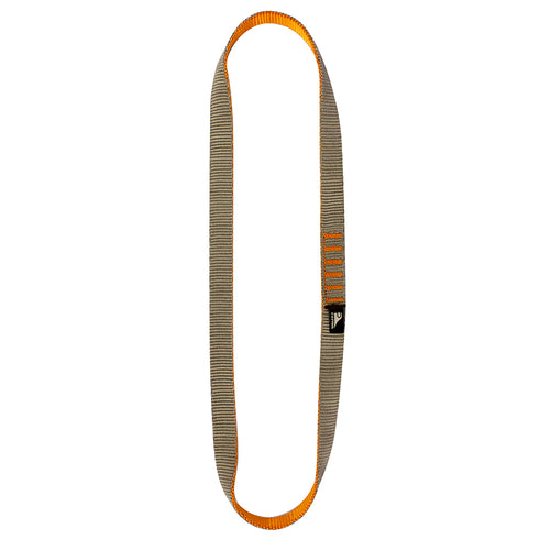 Fusion Climb Quickdraw Runner 5000 lbs Rated Stitched Loop Nylon Webbing  Tan/Orange