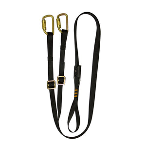 Y-LEGGED ADJUSTABLE LANYARD STEEL CARABINER