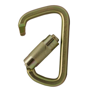 Fusion Climb Tacoma Steel Triple Lock with Key Nose Modified D-shaped Carabiner