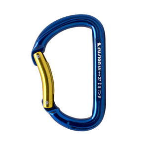 Fusion Climb Aluminum Spiridon Bent Gate Modified D-shaped Carabiner