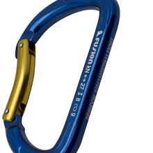 Load image into Gallery viewer, Fusion Climb Aluminum Spiridon Bent Gate Modified D-shaped Carabiner