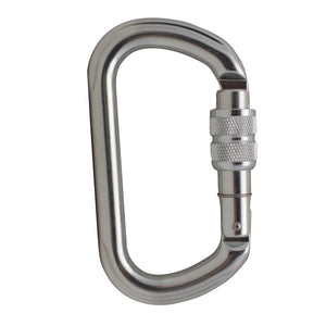 SUPREME OVAL SCREW GATE KEYLOCK ALUMINUM CARABINER