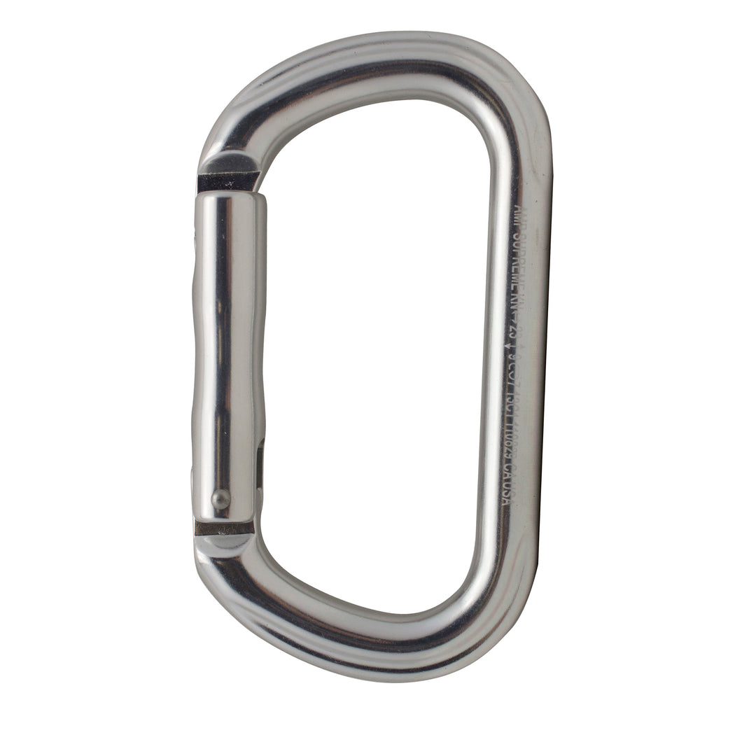 SUPREME OVAL STRAIGHT GATE KEYLOCK ALUMINUM CARABINER
