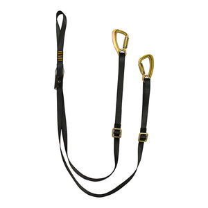 Y LEGGED ADJUSTABLE LANYARD  CAPTIVE EYE SNAP HOOK
