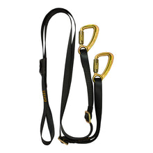 Load image into Gallery viewer, Y LEGGED ADJUSTABLE LANYARD  CAPTIVE EYE SNAP HOOK
