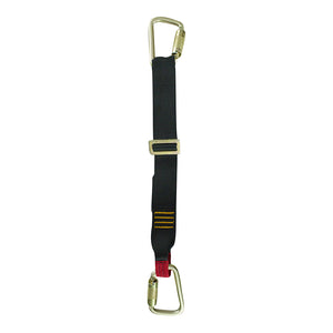 ADJUSTABLE SINGLE LEG LANYARD W/ TWO STEEL AUTOLOCK CARABINERS