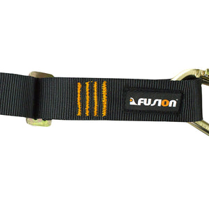 "Fusion Climb Lanyard with Eye Loop 1.75"" Wide Auto Lock Steel Carabiners Adjustable"