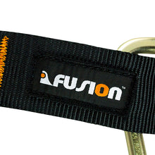"Load image into Gallery viewer, Fusion Climb Lanyard with Eye Loop 1.75"" Wide Auto Lock Steel Carabiners Adjustable"