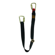Load image into Gallery viewer, ADJUSTABLE SINGLE LEG LANYARD W/ TWO STEEL AUTOLOCK CARABINERS