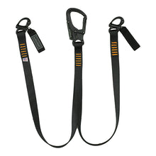 Load image into Gallery viewer, Fusion Climb Military Police Personal Retention Helo Lanyard with Snap Hook Shackle 23kN Black