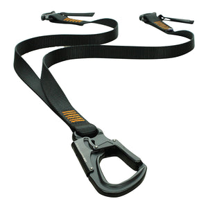 Fusion Climb Military Police Personal Retention Helo Lanyard with Snap Hook Shackle 23kN Black