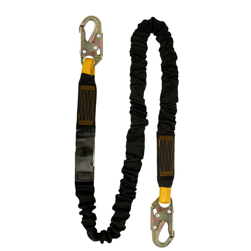 INTERNAL SHOCK ABSORBING FALL PROTECTION LANYARD W/STEEL SNAP HOOK