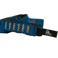"Load image into Gallery viewer, Fusion Climb 12 Loop Individual Loop Daisy Chain 5000 lb Test Stitched Nylon Webbing 45"" x 0.75"" Blue/Black"