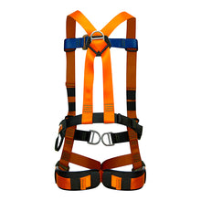 Load image into Gallery viewer, Fusion Climb Cosmo Full Body Adjustable Zipline Harness 23kN M-L Orange