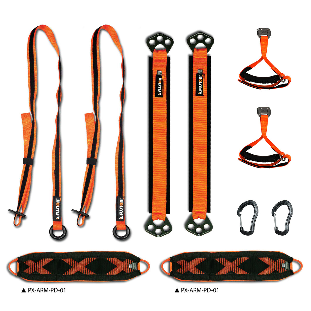Fusion Climb PrestoX Fit 300, Full Portable Home Gym Workout Package Equipment for Home (Made in USA)