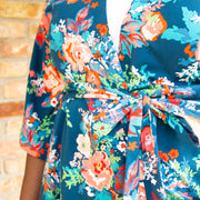 Women's Robe Elegant Bloom