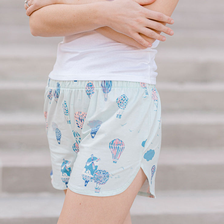 Women's Lounge Shorts Dreams Take Flight