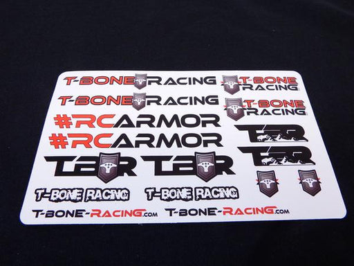 "T-Bone Racing 2019 RC Armor Sticker Sheet 6x4"" - 5 Entries"