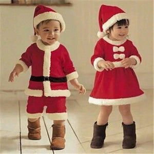 Kids Christmas Santa Claus Costume