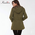 Winter Parkas Long Sleeve For Women - BunnyTags