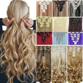 Invisible Halo Hair Wavy Hair Extension With 8 Pcs/Set