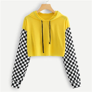 Yellow Panel Hoodie t Shirt