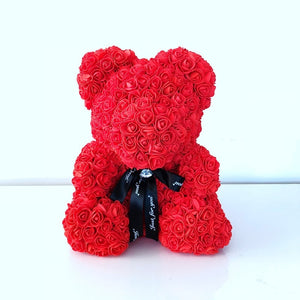 Teddy Bear Of Roses - Valentines Gift