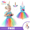 Unicorn Girls Tutu Dress - BunnyTags
