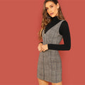 Sheath Plaid Dress - BunnyTags
