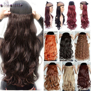 Invisible Halo Curly Hair Extension With Clips And Amazing Colors