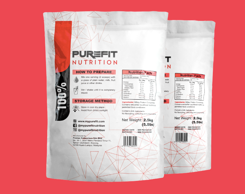 PURE WHEY - POUCH 5.0KG BUNDLE PACK (NATURAL)